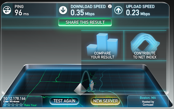 Clear Home Internet Speed Test